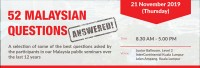 52 Malaysian Questions Answered!